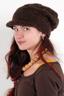 BROWN PIPI SHELLS BRIM FLOP