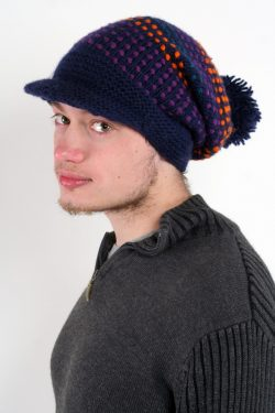 BLUE ORANGE SONGLINES FLOP BRIM POMPOM