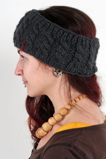 DARK GREY CABLE HEADBAND