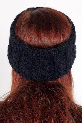 BLACK CABLE HEADBAND