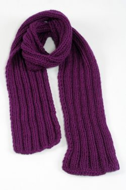 PURPLE 2X2 PLAIN NARROW SCARVE