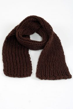 BROWN 1X1 PLAIN SCARVE