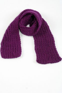 PURPLE 1X1 PLAIN SCARVE