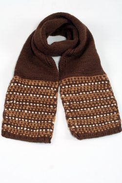 BROWN BROWN STEP SCARVE
