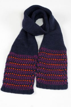 BLUE ORANGE STEP SCARVE