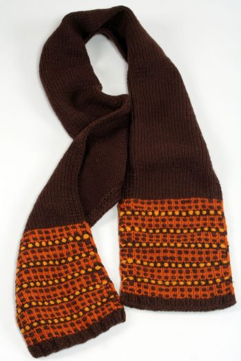 BROWN TAN STEP SCARVE