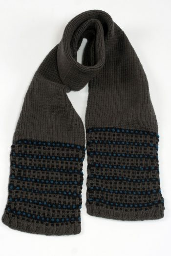 DARK GREY PETROL STEP SCARVE