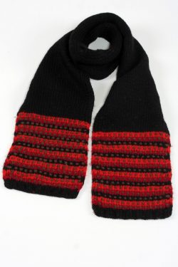BLACK RED STEP SCARVE
