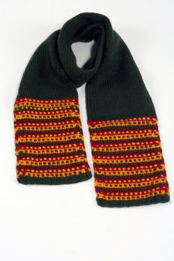 GREEN RASTA STEP SCARVE