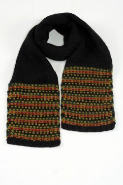 BLACK GREEN STEP SCARVE