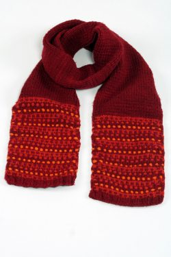 RED ORANGE STEP SCARVE