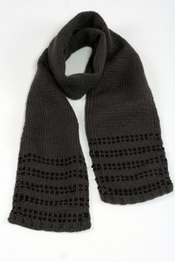 DARK GREY BLACK DOT SCARVE