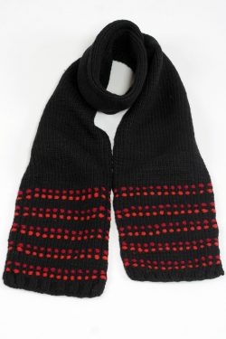 BLACK RED DOT SCARVE