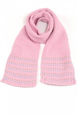 PINK LIGHT BLUE DOT SCARF