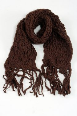 BROWN TUBE SCARF