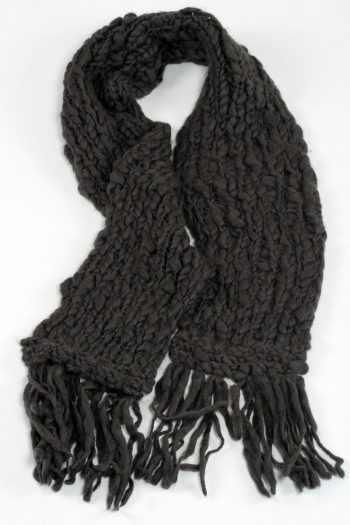 DARK GREY TUBE SCARF
