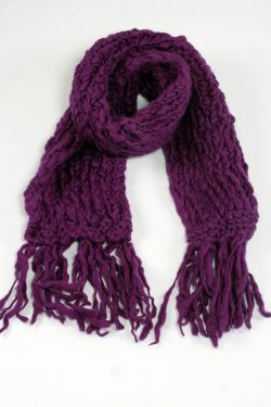 PURPLE TUBE SCARF