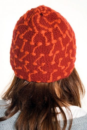 RED DARK ORANGE SQUARE SHORT