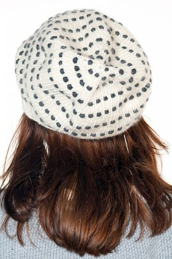 WHITE DARK GREY SPIRAL DOTS DOUBLE FLOP