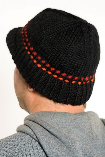 BLACK RED BRIM SHORT