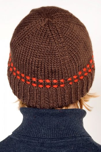 BROWN ORANGE BRIM SHORT
