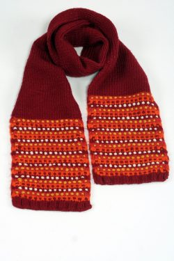 RED ORANGE STEP SCARF