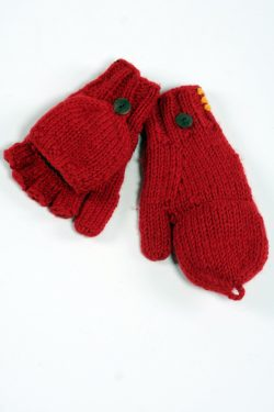 DARK ORANGE PLAIN COVER MITTENS