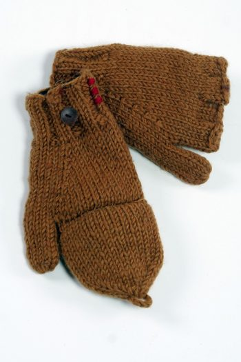 CHOCOLATE PLAIN COVER MITTENS