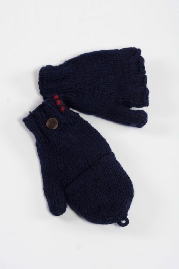 BLUE PLAIN COVER MITTENS