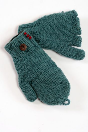 LIGHT PETROL PLAIN COVER MITTENS