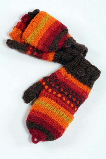 FIRE RAINBOW COVER MITTENS