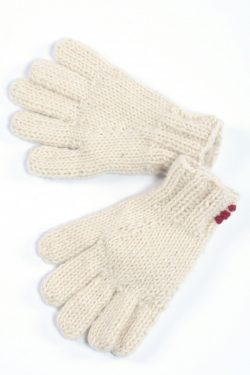 WHITE 5 FINGER PLAIN GLOVES