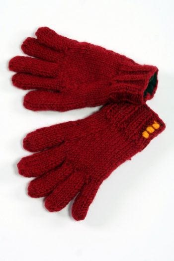RED 5 FINGER PLAIN GLOVES