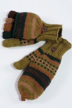 JUNGLE RAINBOW COVER MITTENS