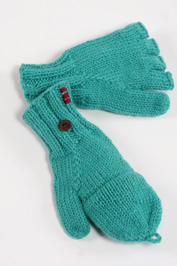 TURQUOISE PLAIN COVER MITTENS