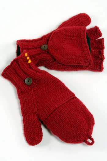 RED PLAIN COVER MITTENS