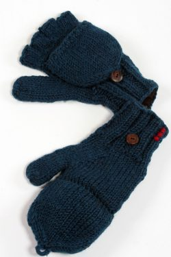 PETROL PLAIN COVER MITTENS