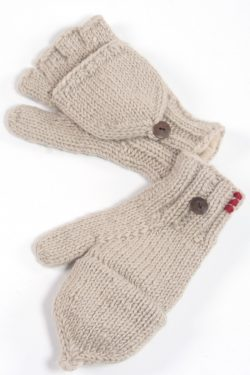 LIGHT GREY PLAIN COVER MITTENS