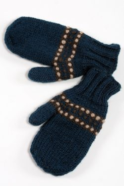 PETROL DARK GREY STEP MITTENS