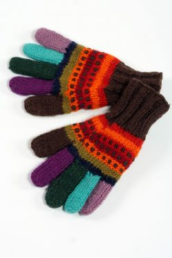 DOUBLE RAINBOW 5 FINGER GLOVES