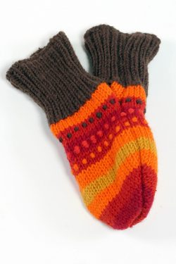 FIRE RAINBOW LOVE MITTENS