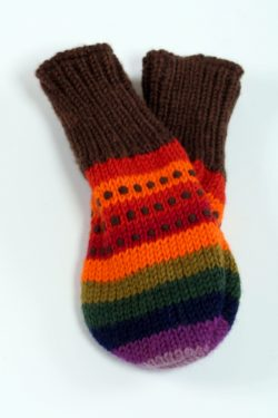 DOUBLE RAINBOW LOVE MITTENS