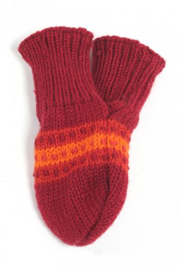 RED RED STEP LOVE MITTENS
