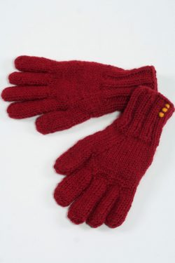 RED PLAIN 5 FINGER GLOVES