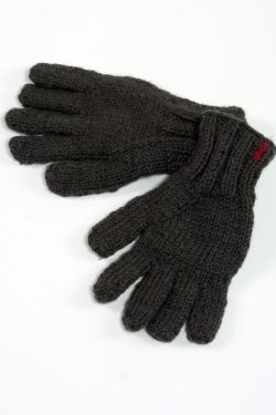 DARK GREY PLAIN 5 FINGER GLOVES