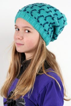TURQUOISE PETROL SQUARE FLOP POMPOM