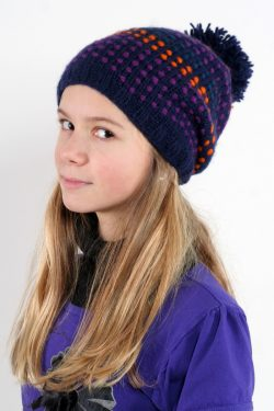 BLUE ORANGE SONGLINES FLOP POMPOM