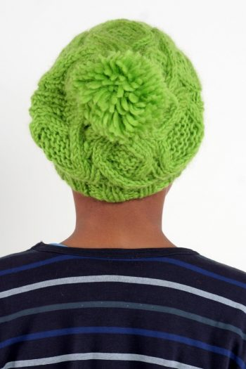 FLASHY GREEN DNA FLOP POMPOM