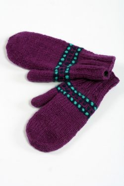 PURPLE TURQUOISE STEP MITTENS