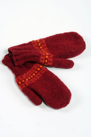 RED RED STEP MITTENS